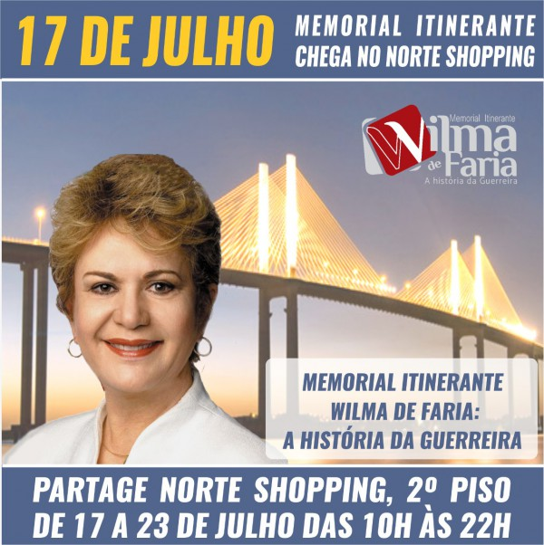 Convite Memorial Partage Norte Shopping