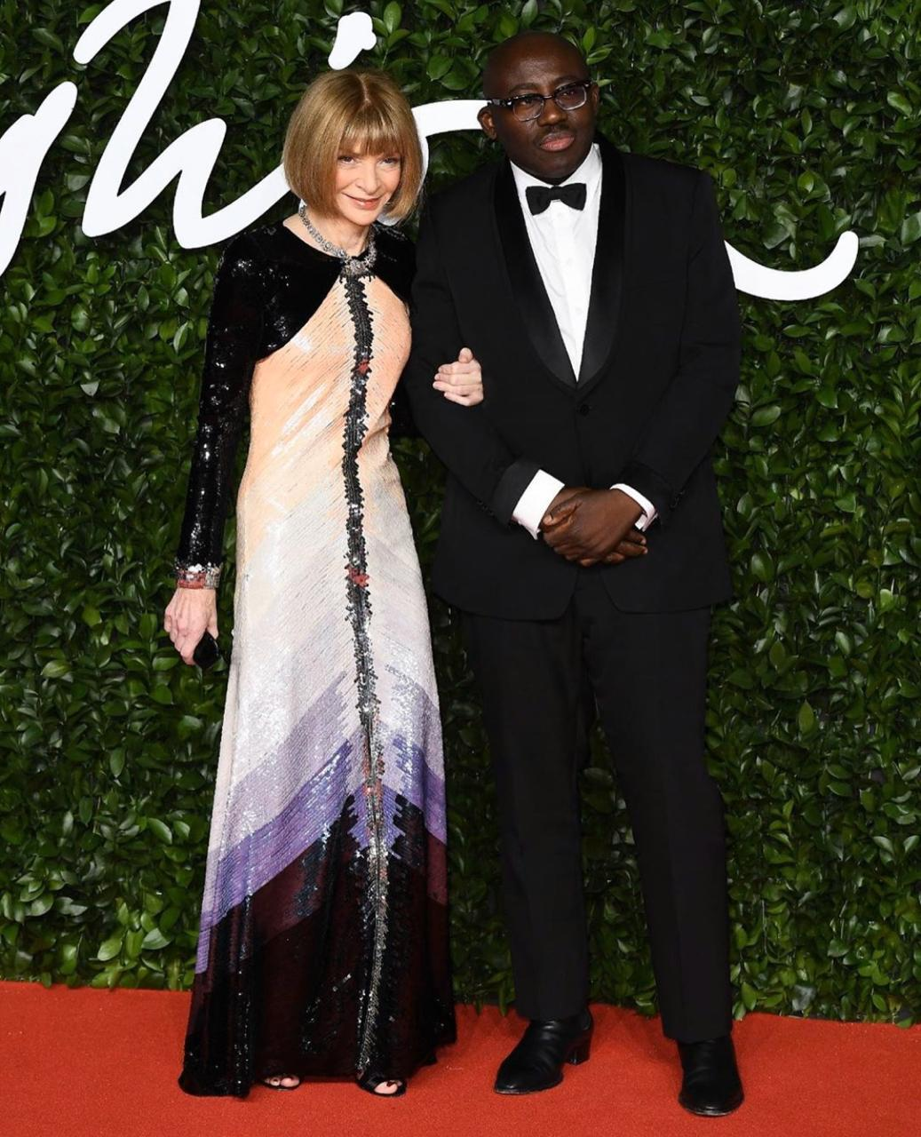 Anna Wintour no British Fashion Awards 2019, em Londres, segunda passada